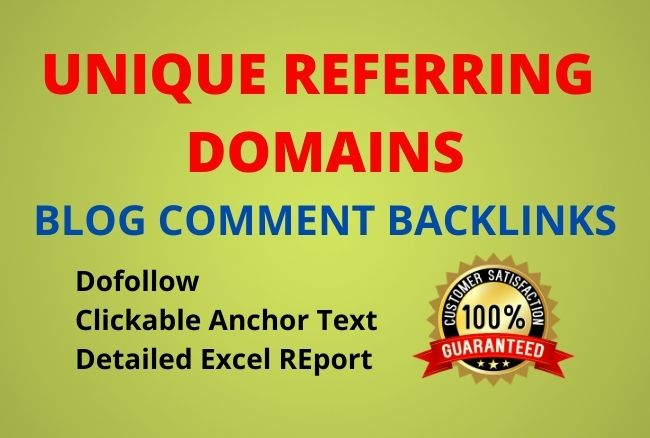I will create 70+ unique domains blog comments backlinks