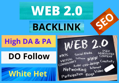30 Web2.0 Backlinks high authority link building manual permanent PBN and high quality