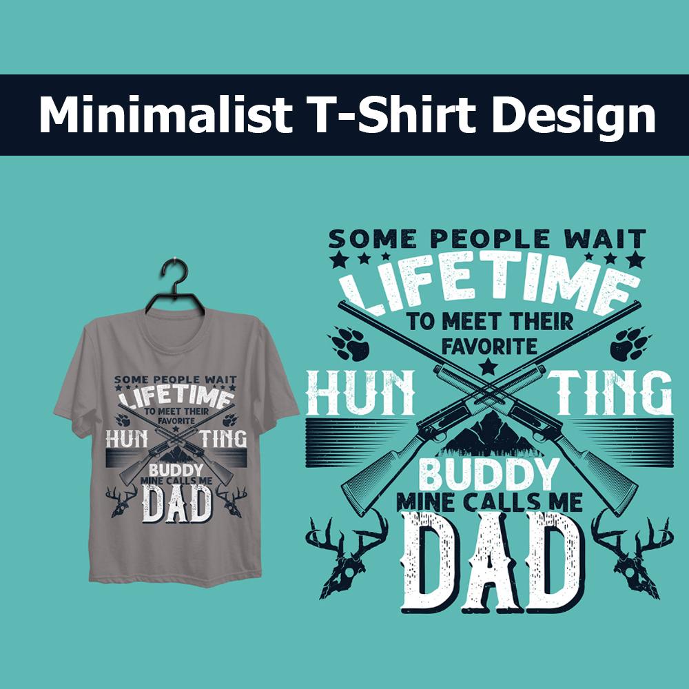 I will create minimalist t-shirt design