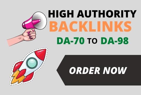 I will make high authority SEO dofollow backlinks