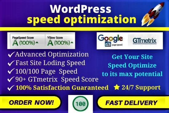 l will do WordPress Website Spreed Optimization,  Increase Page Spreed