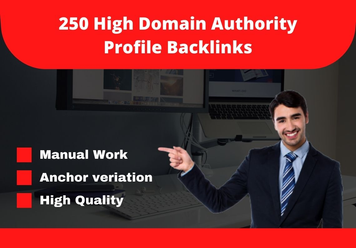 I will provide you 250 high domain authority 80+ do-follow backlinks.
