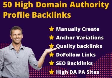 I will provide you 50 high domain authority 70+ do-follow backlinks.