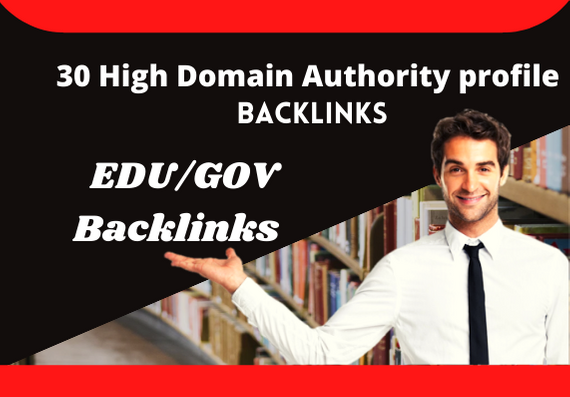 I will provide you 30 high domain authority EDU/GOV backlinks.