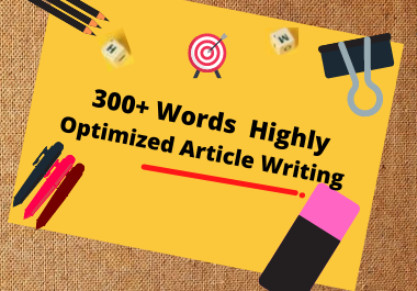 I Will Do 300+ Words Unique Articles, Blog Post and Content Writing