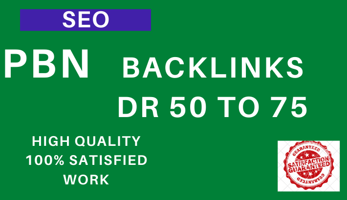 I Will provide 10 DR 50 to 70 plus pbn dofollow permanent homepage backlinks