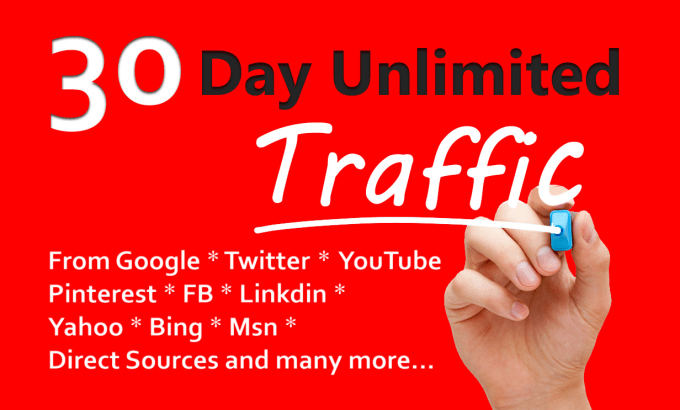 I will drive 7 day unlimited keyword and niche targeted traffic