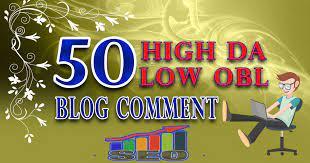 I will 50 blog comments backlinks on high da pa unique websites