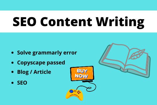 I will write SEO Friendly unique Content/Articles.