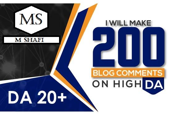 I will Create 200 high quality dofollow blog comments backlinks
