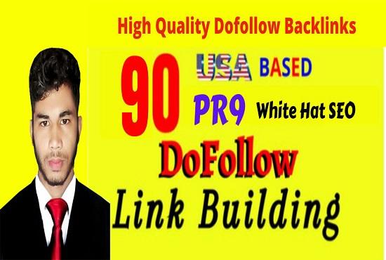 do 90 USA pr9, edu dofollow SEO backlinks link building for google top ranking