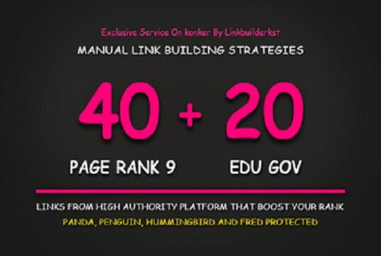 I will high authority 400 edu govt SEO backlinks link building