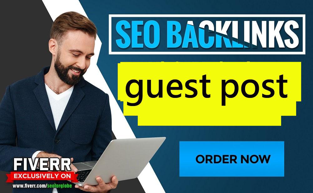 I will guest post on da 80 google news for seo backlinks