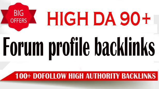 I will create 100 high da do follow pr9 forum profile backlinks