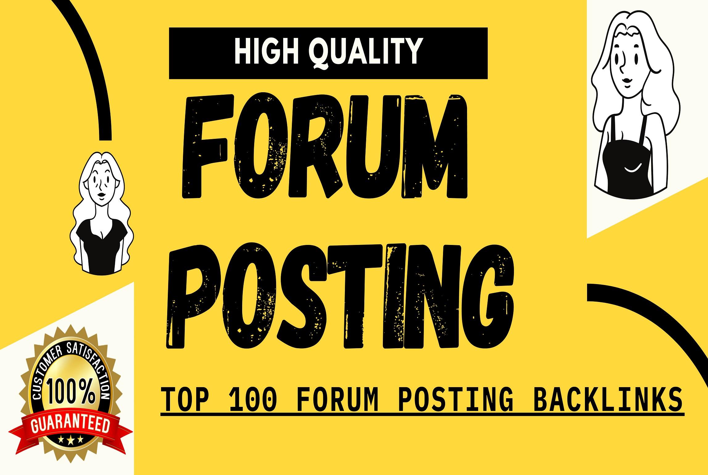 Create 200 manually high authority forum posting backlinks