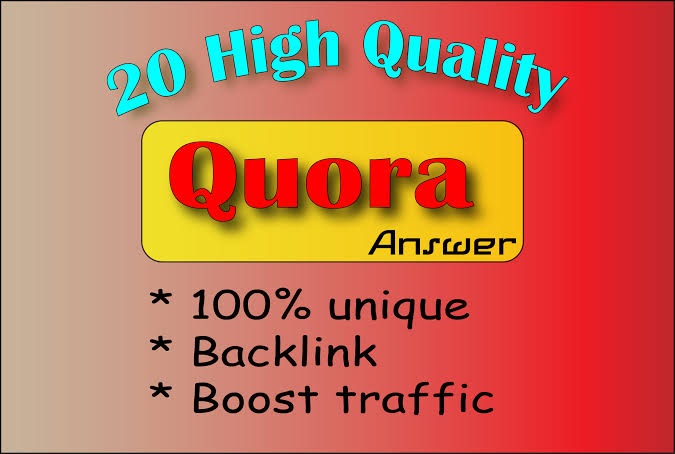 Provide 20 HQ quora answers with Backlinks