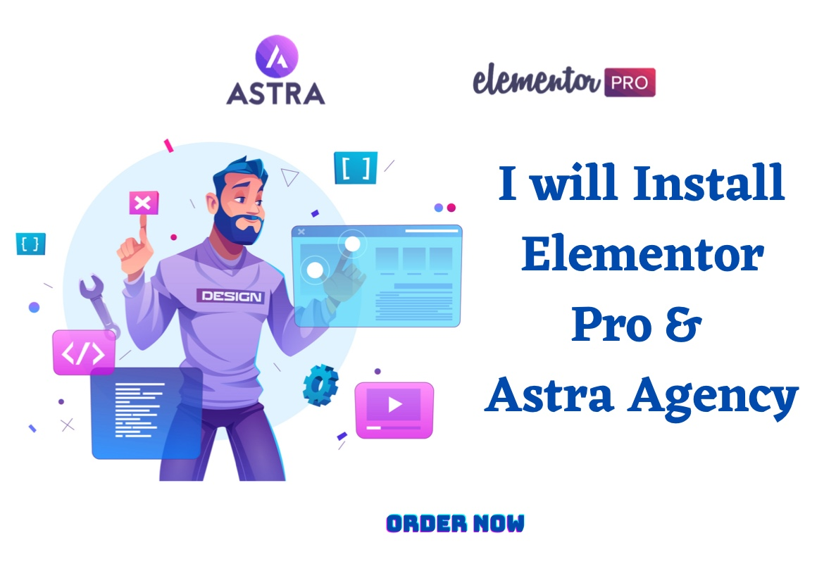 I will install Elementor Pro Astra Agency on your Wordpress website