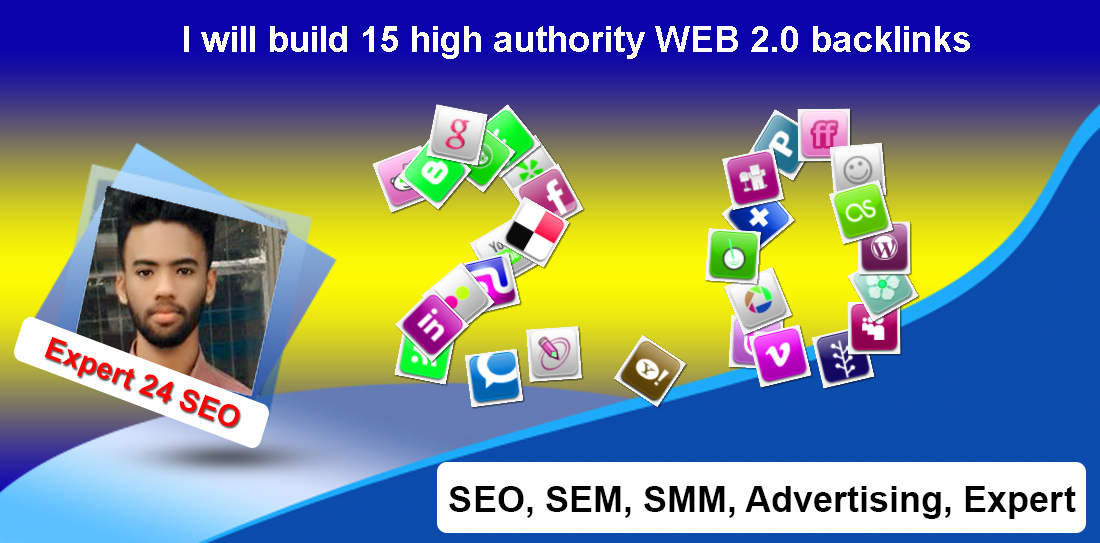 I will build 15 high authority WEB 2.0 backlinks
