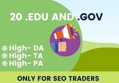 20 Edu and Gov backlink for your traffic