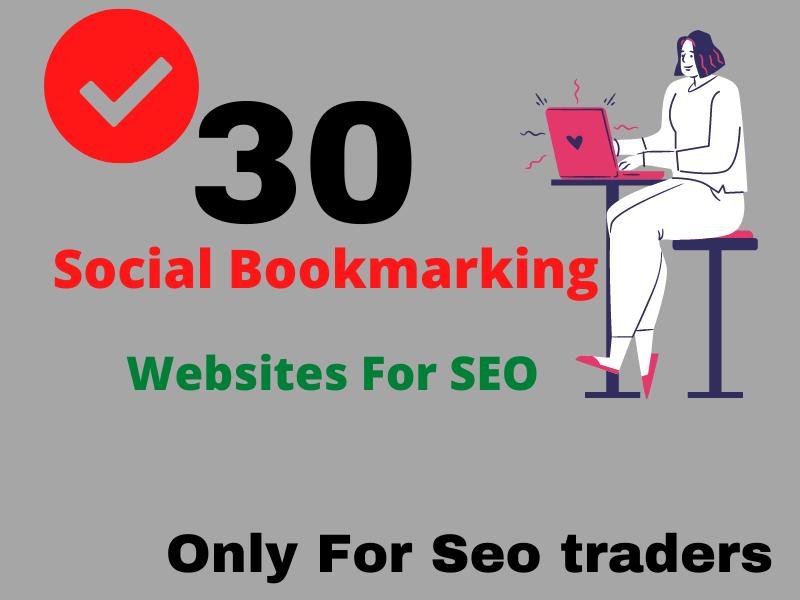 I will create 30 social bookmark backlinks manually