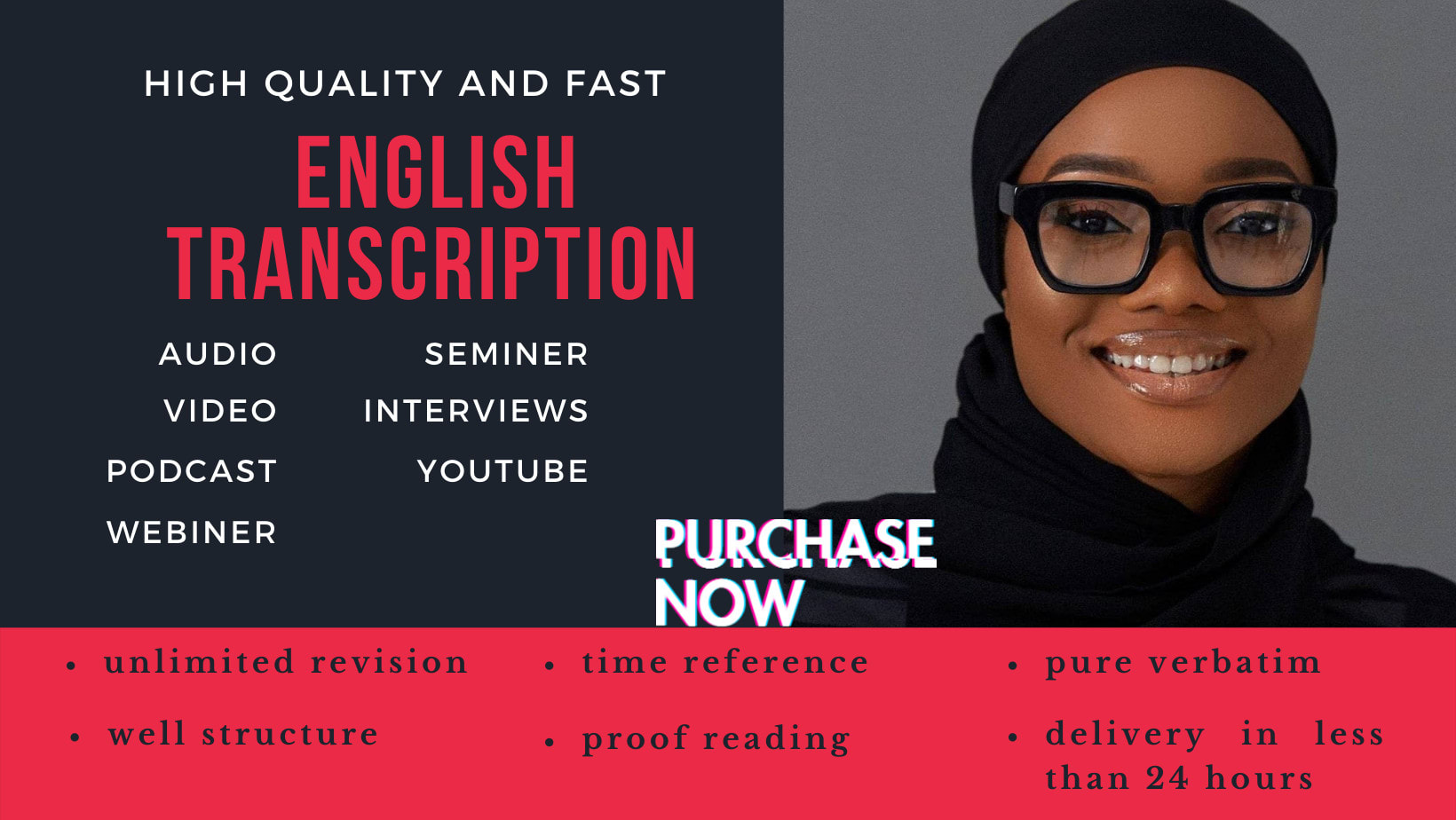 I will provide a flawless english transcript of your audio and video