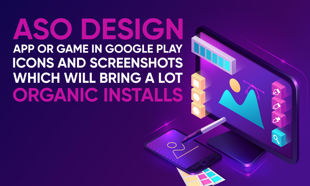 I will do aso design for app or game in google play