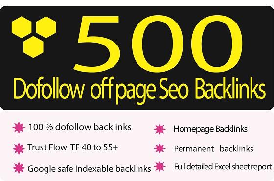 Create 500+ high tf dofollow off page SEO backlinks