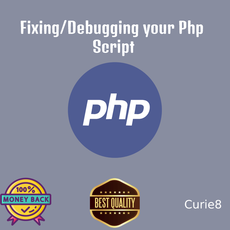 Fixing/Debugging your PHP script