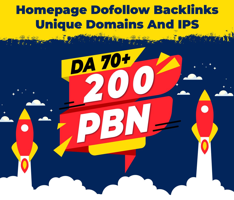 200 PBN DA 70+ Homepage DoFollow Links for Casino,  Poker,  Gambling,  & Betting