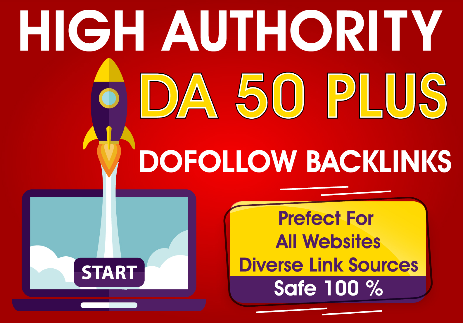 90 high quality dofollow SEO backlinks da 50 plus authority white hat link building