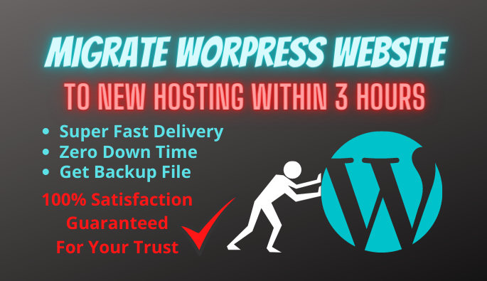 backup and migrate WordPress website to new hosting