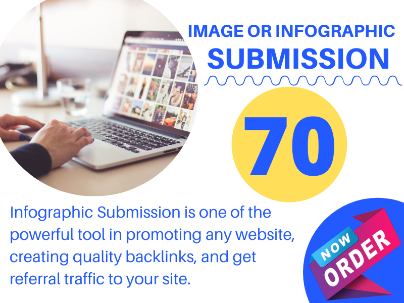 I Will submit Image or Infographic top 70 high quality PR Websites