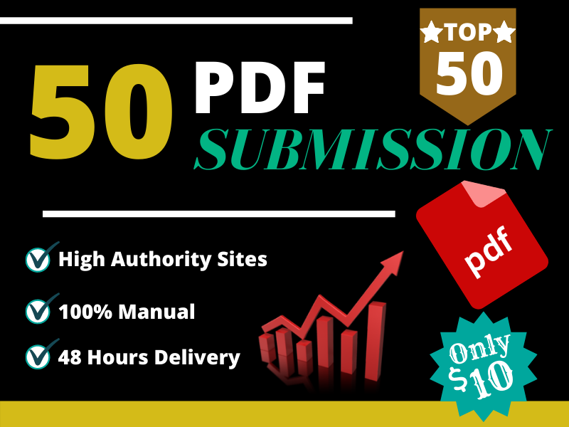 I will do 50 PDF submission on top document sharing sites