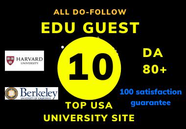 Dofollow 10 Edu Guest post On High DA Website OF USA universities