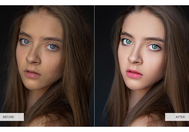 I will do professional portrait photo retouching