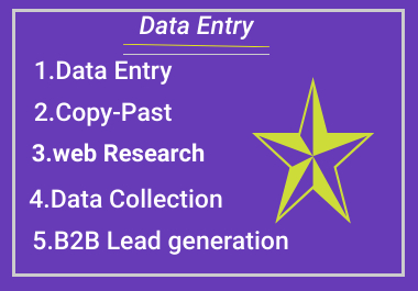 I Will Do Perfect Data Entry, copy past And First typing work