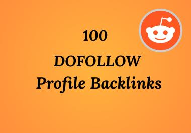 I will create 100 Do follow Profile Backlinks
