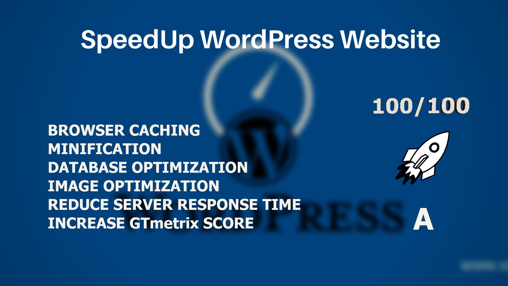 I will do WordPress Website Speed Optimziation with GTmetrix