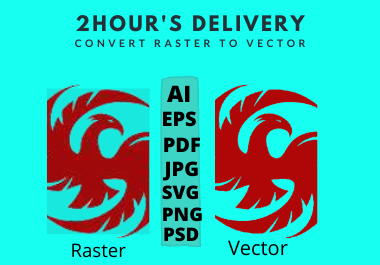 I will create logo to vector or anything to vector