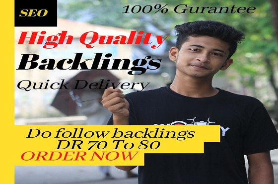150 high quality DR 70 to 80 seo dofollow manual backlinks