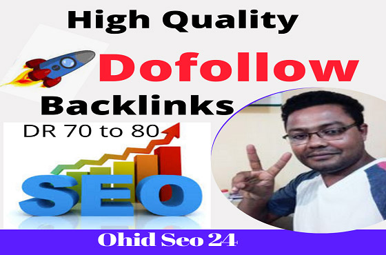 150 high quality DR 70 to 80 manual seo dofollow backlinks