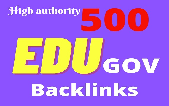 I Will Make 500 High Authority Backlinks Edu Gov Site manually