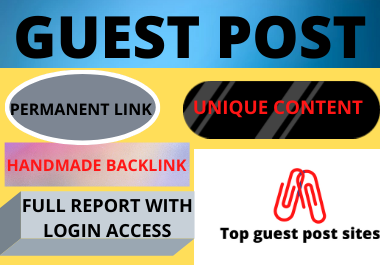 Write and publish 10 Guest Post High Authority website unique content low spam score domain backlink