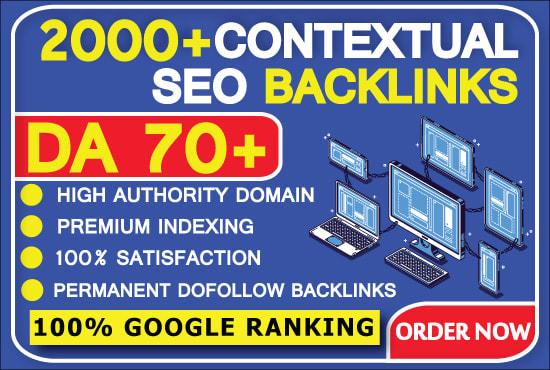 I will create 2000 high quality contextual seo dofollow backlinks