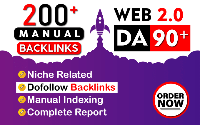 I will provide 100 high authority Manual Dofollow Backlinks for your site