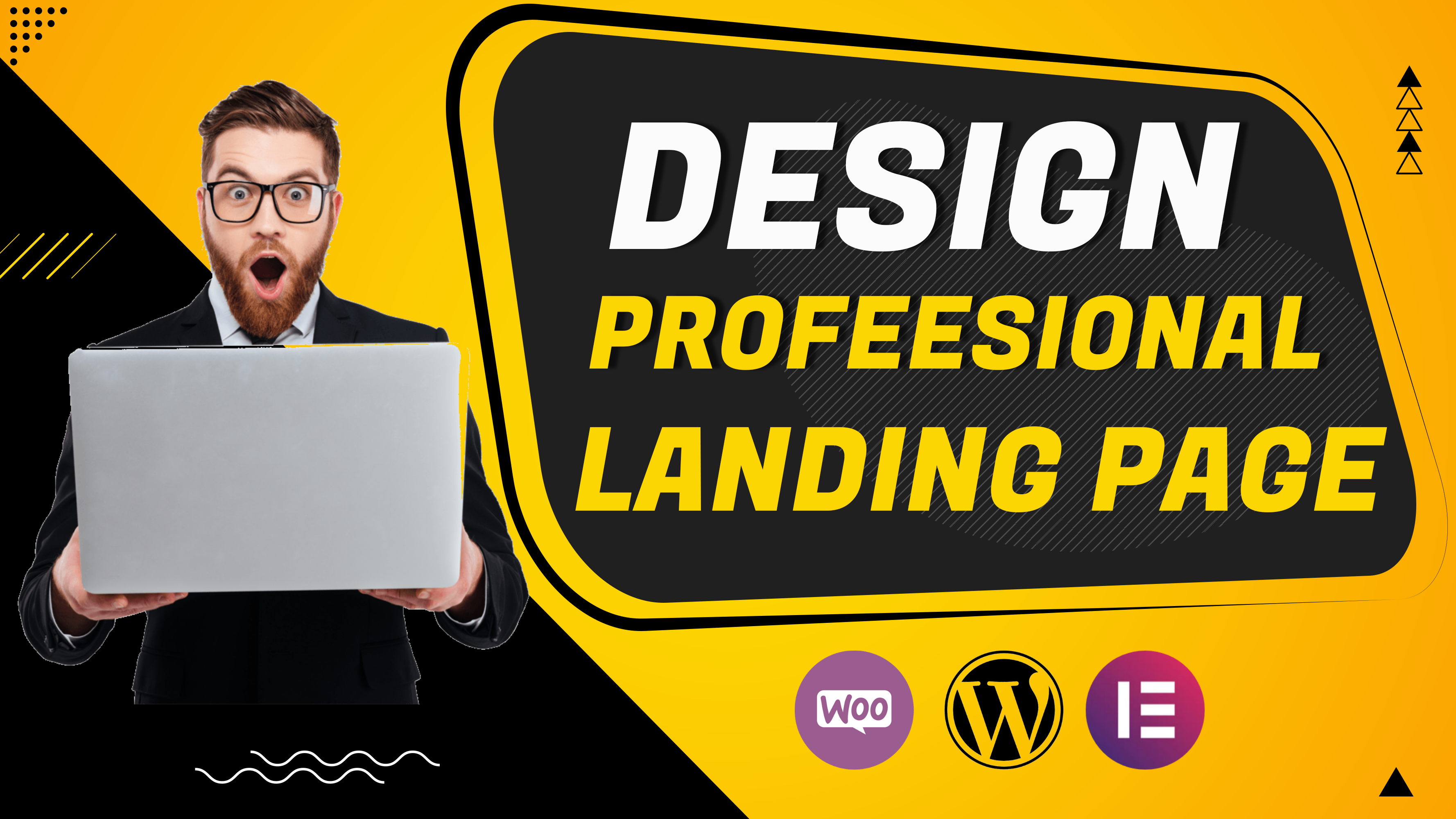 I will design wordpress landing page or squeeze page by elementor pro,  wpbakery,  divi