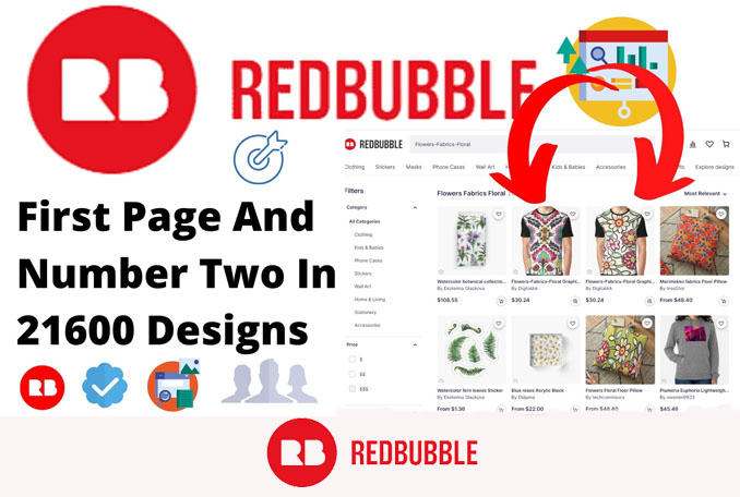 I will upload Print On Demand designs to redbubble with Perfect SEO