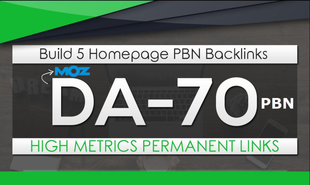 Build 5 HomePage Posts DA 70 Plus high PBNs