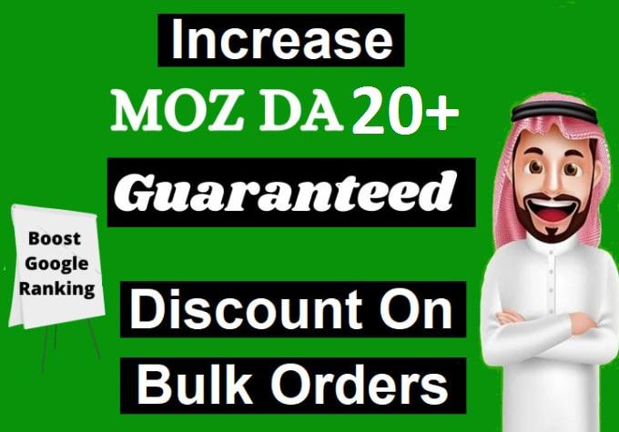increase domain authority increase moz da 20 plus