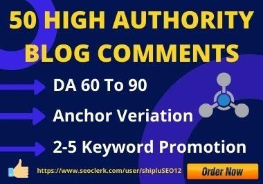 I Will Manually Create 50 Do-follow Blog Comments